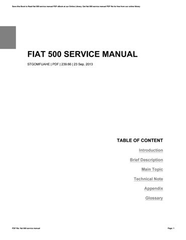 s instruction manual topolino handbook en pdf owner operation car fiat