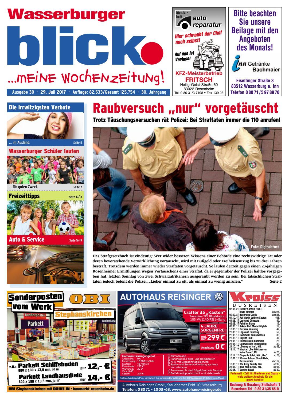Wasserburger Blick Ausgabe 30 2017 By Blickpunkt Verlag
