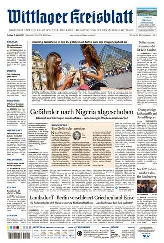 Musterausgabe Wittlager Kreisblatt2017 04 07 By Neue Osnabruecker