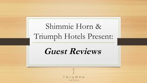 triumph hotels & shimmie horn - issuu