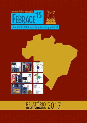 Relatório FEBRACE 2017 by FEBRACE - Feira Brasileira de Ciências e ... d88b897a8e9