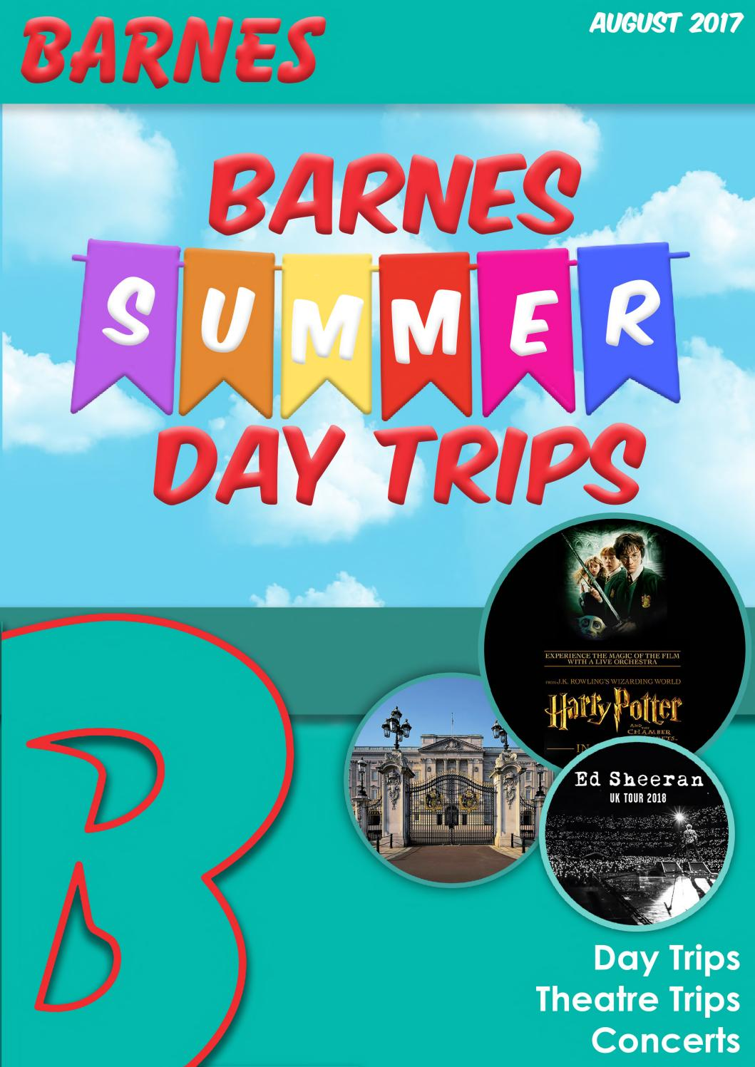Day Trip Brochure August 2017 by Barnes Coaches - Issuu