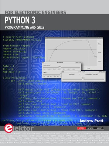 Python 3 Programming and GUIs by Elektor - issuu