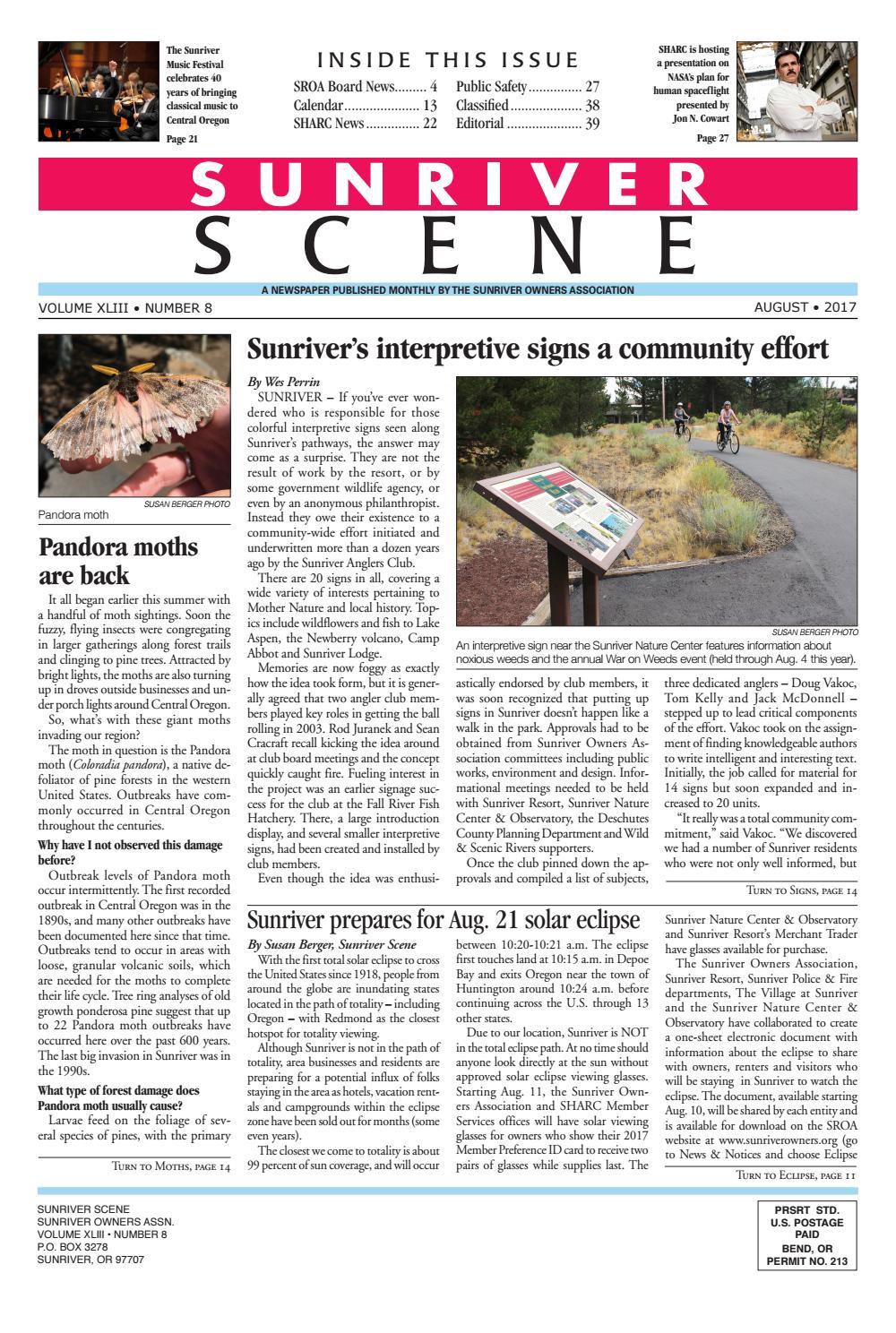 Sunriver Scene August 2017 by Sunriver Scene - issuu