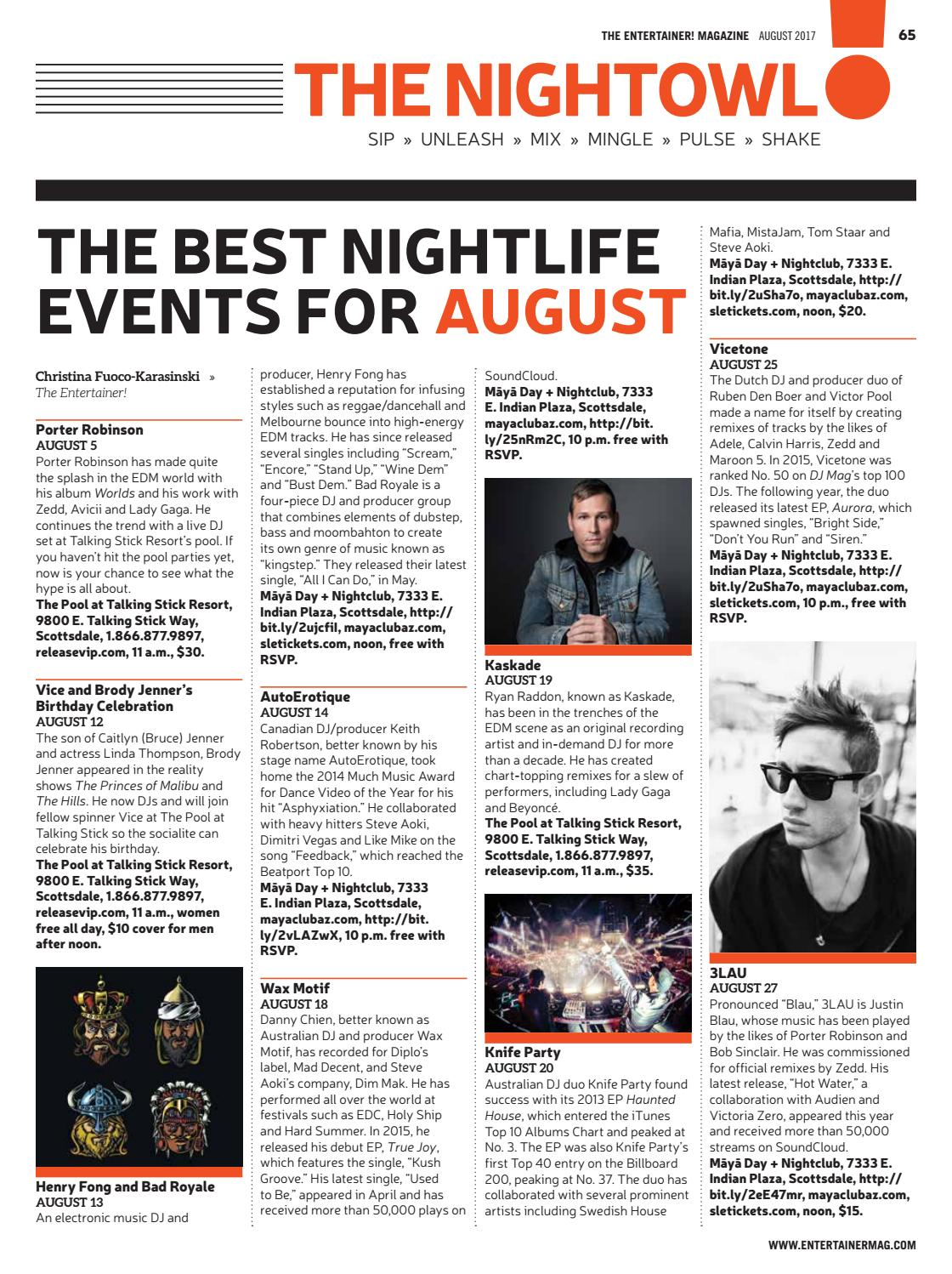 The Entertainer! - August 2017 by Times Media Group - issuu