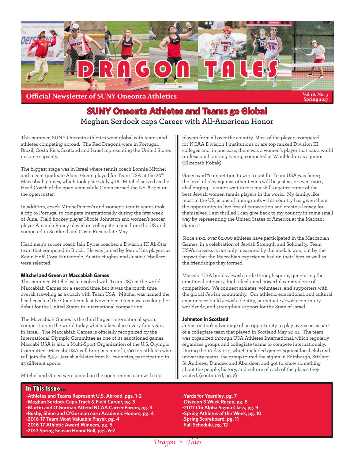 Dragon Tales Newsletter, Vol  18, No  3 by SUNY Oneonta