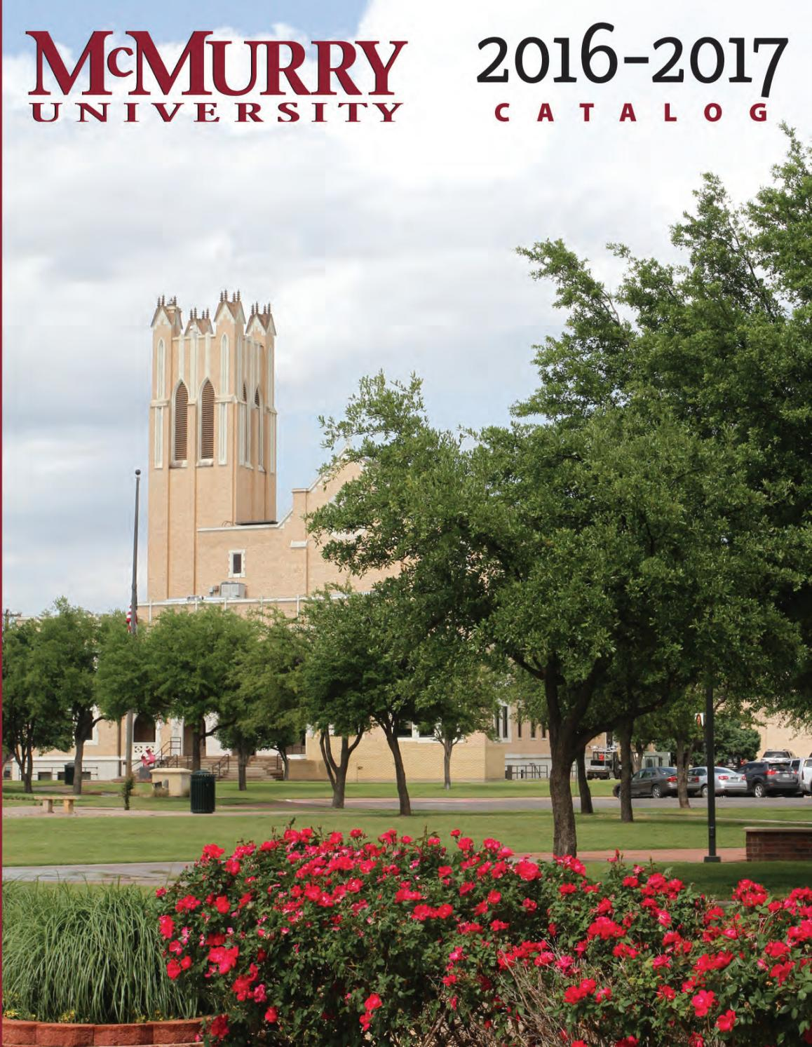 Mcmurry Catalog 2016 17 By Mcmurry Issuu