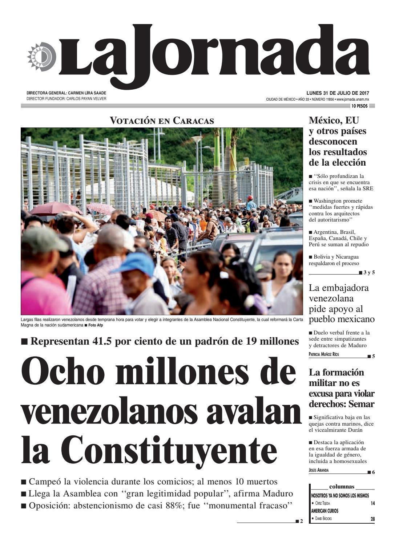 La Jornada 07 31 2017 By La Jornada Demos Desarrollo De Medios  # Vacantes Muebles Dico Guadalajara