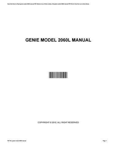 genie model 2060l manual by joannebeard3778 issuu rh issuu com genie 2060l-07/m manual genie model 2060l manual