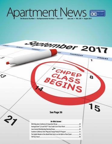 August 2017 Apartment News Magazine by Apartment Association