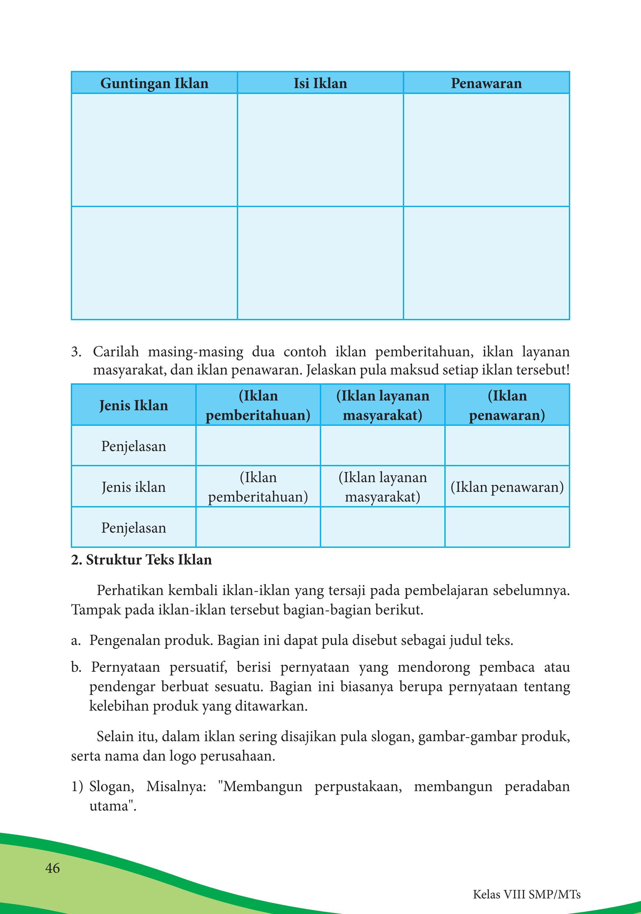 Materi Pelajaran 8 Contoh Gambar Iklan Pemberitahuan Iklan