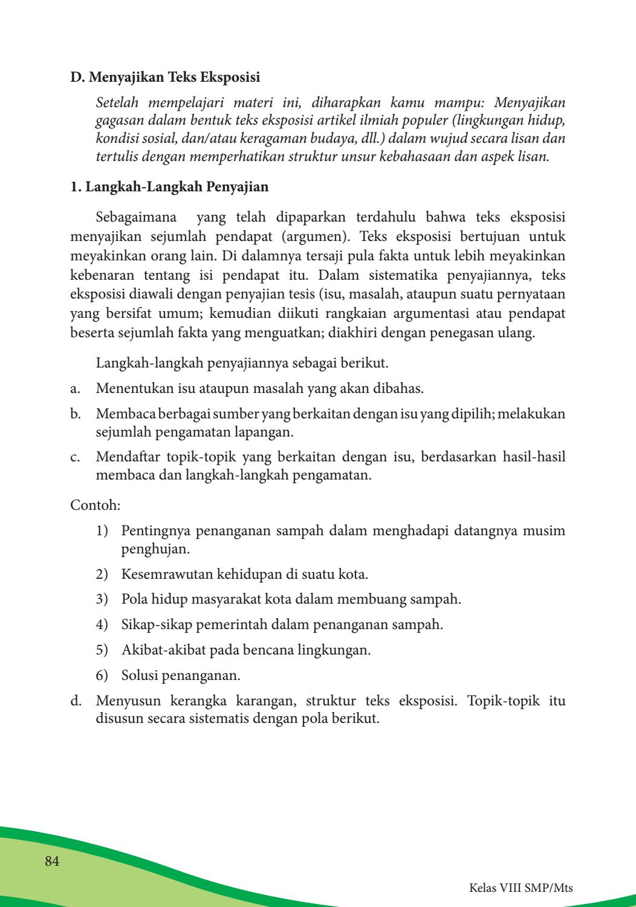 Kelas 08 Smp Bahasa Indonesia Siswa 2017 By P E Thea Issuu