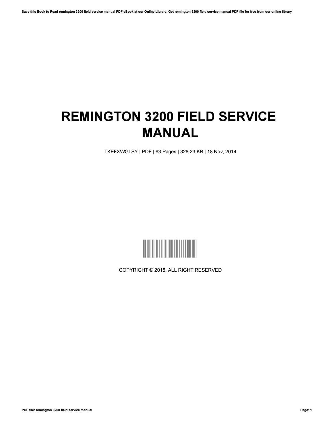 Service manual for a coleman powermate ebook array remington 3200 field service manual by williamivey2927 issuu rh issuu fandeluxe Choice Image
