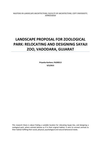 pay to do zoology thesis proposal