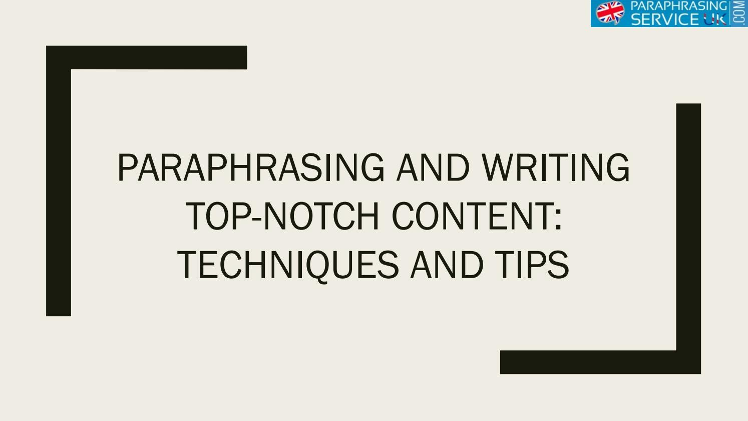Essay paraphrasing services