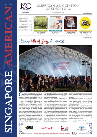 8a4349d6c1 Singapore American Newspaper August 2017 by American Association of ...
