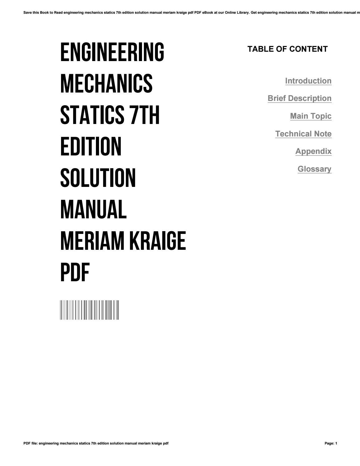 engineering mechanics dynamics 7th edition solution manual - Monza