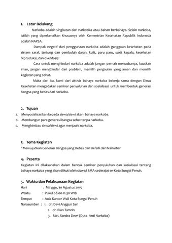 Contoh Proposal Seminar Bahaya Narkoba By Erwin Hafidiansyah Issuu