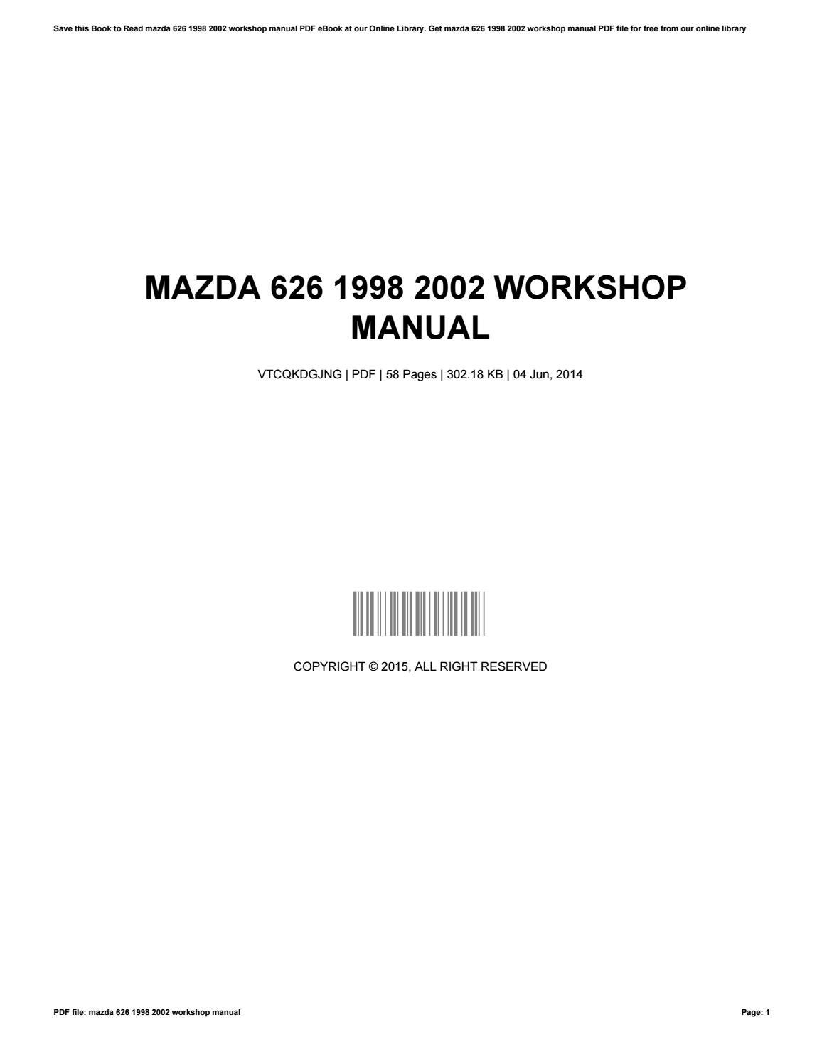 02 mazda 626 owners manual pdf ebook