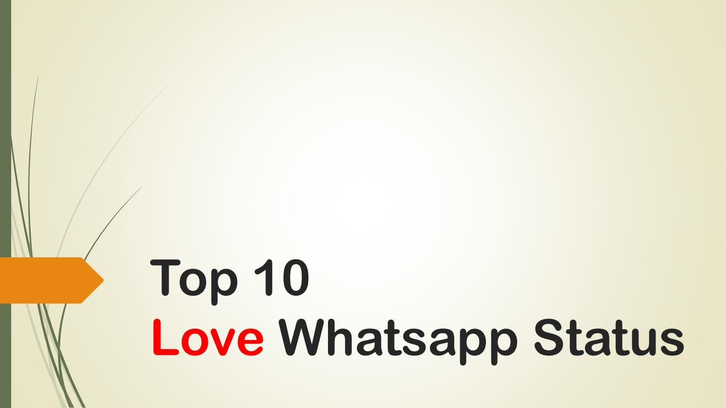 Top 10 Love Whatsapp Status By Status Collection Issuu