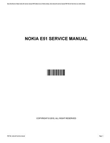 nokia e51 service manual by ellenwatson2918 issuu rh issuu com
