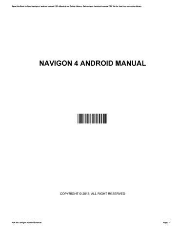 navigon 2200t manual