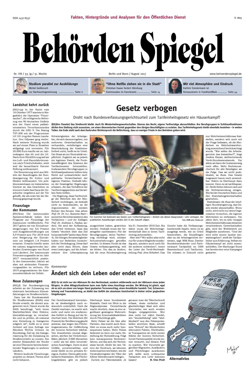 Behörden Spiegel August 2017 by propress - issuu