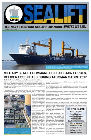 Sealift August 2017 by Military Sealift Command - issuu