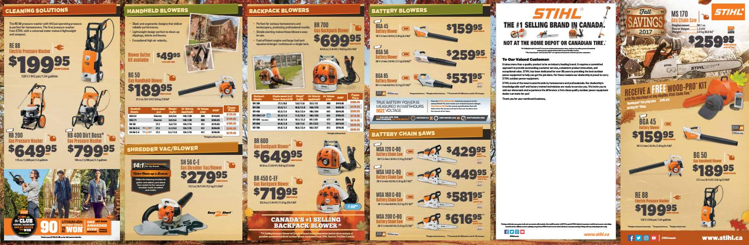 Stihl Fall 2017 Flyer By Greentractors Issuu