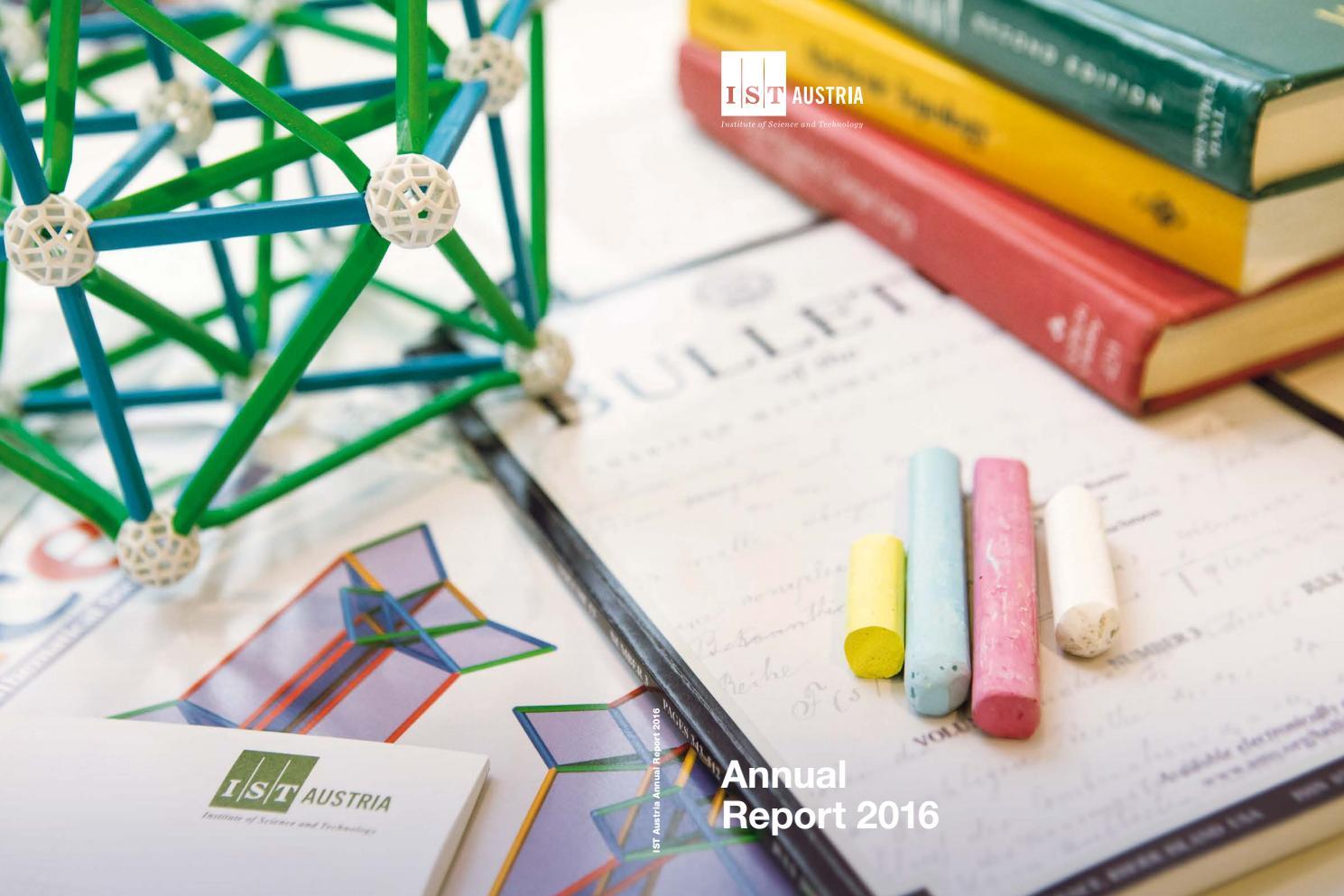 IST Austria Annual Report 2016 by IST Austria - issuu