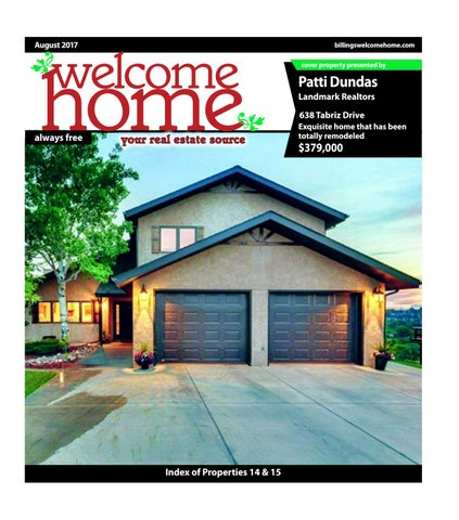 Welcome Home August 2017 By Billings Gazette Issuu