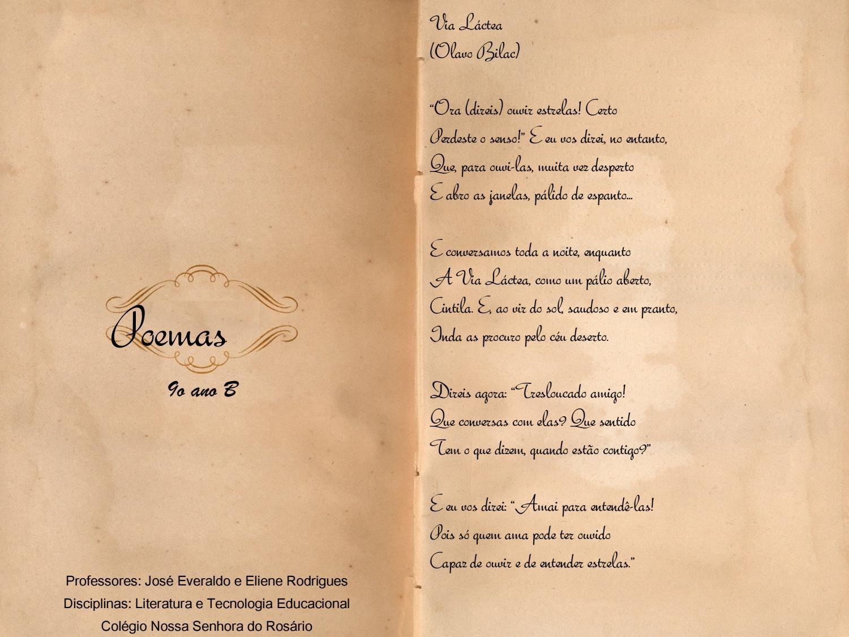 9º Ano B Poemas By Rosario Rosario Issuu