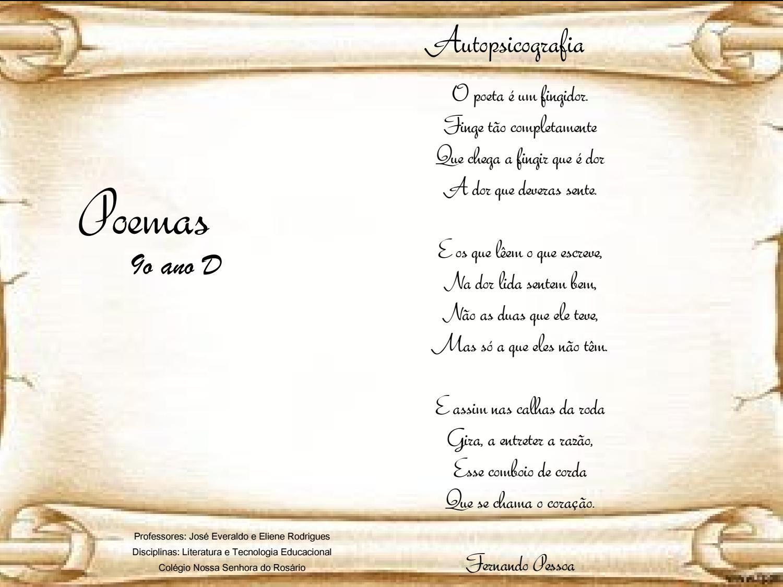 9º Ano D Poemas By Rosario Rosario Issuu