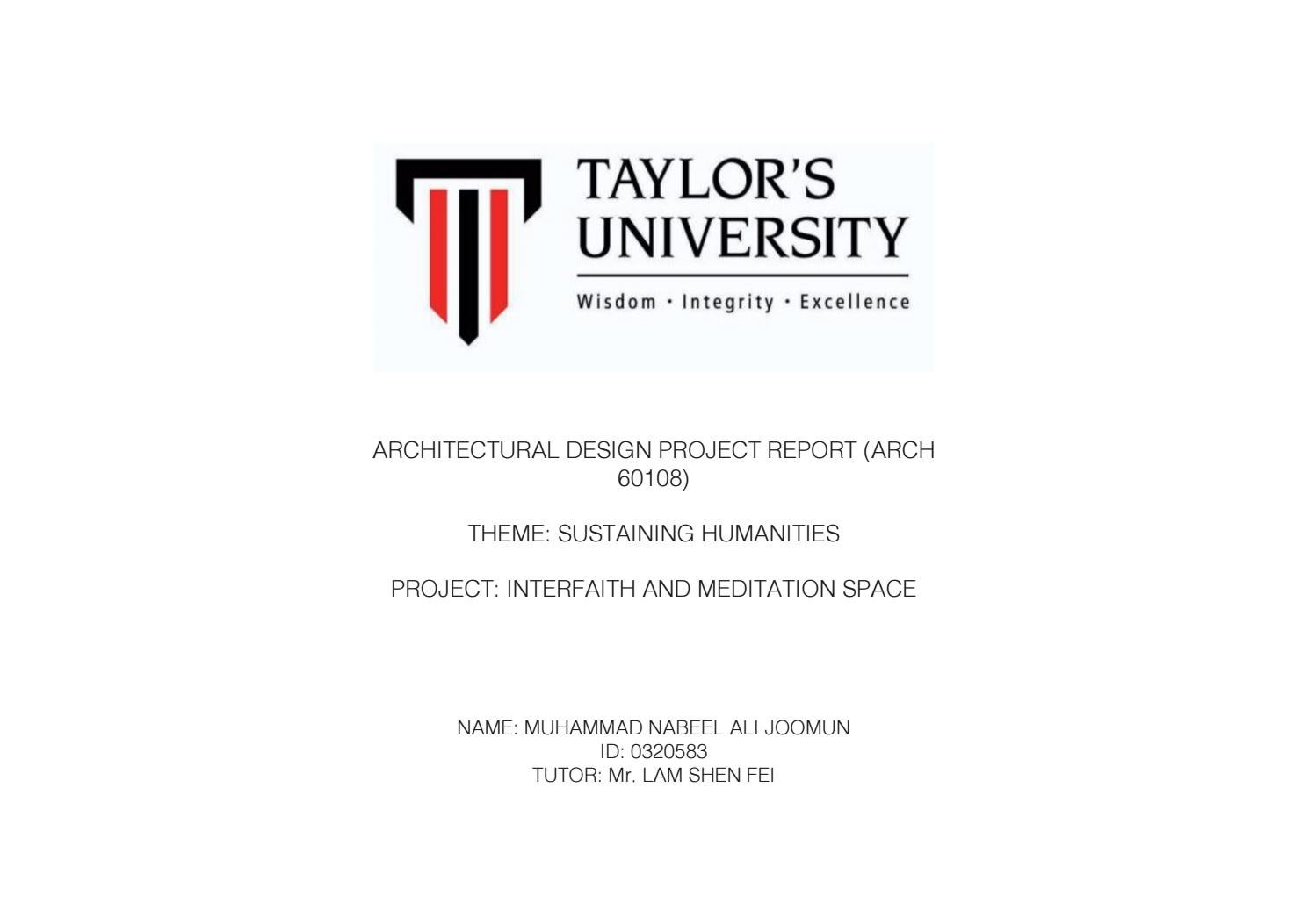 Nabeel Joomun Architecture Design Project Report By Nabeel_Ali14   Issuu
