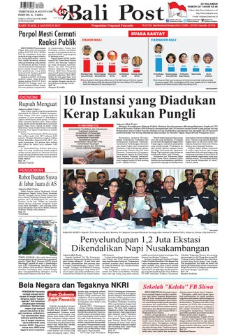 Edisi 02 Agustus 2017 Balipost Com By E Paper Kmb Issuu