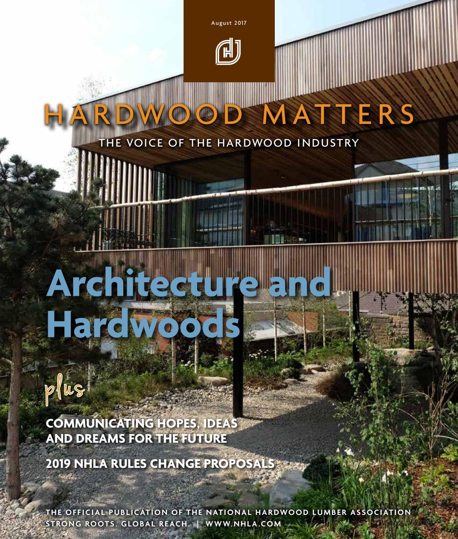 National Hardwood Lumber Association ~ August hardwood matters by national lumber