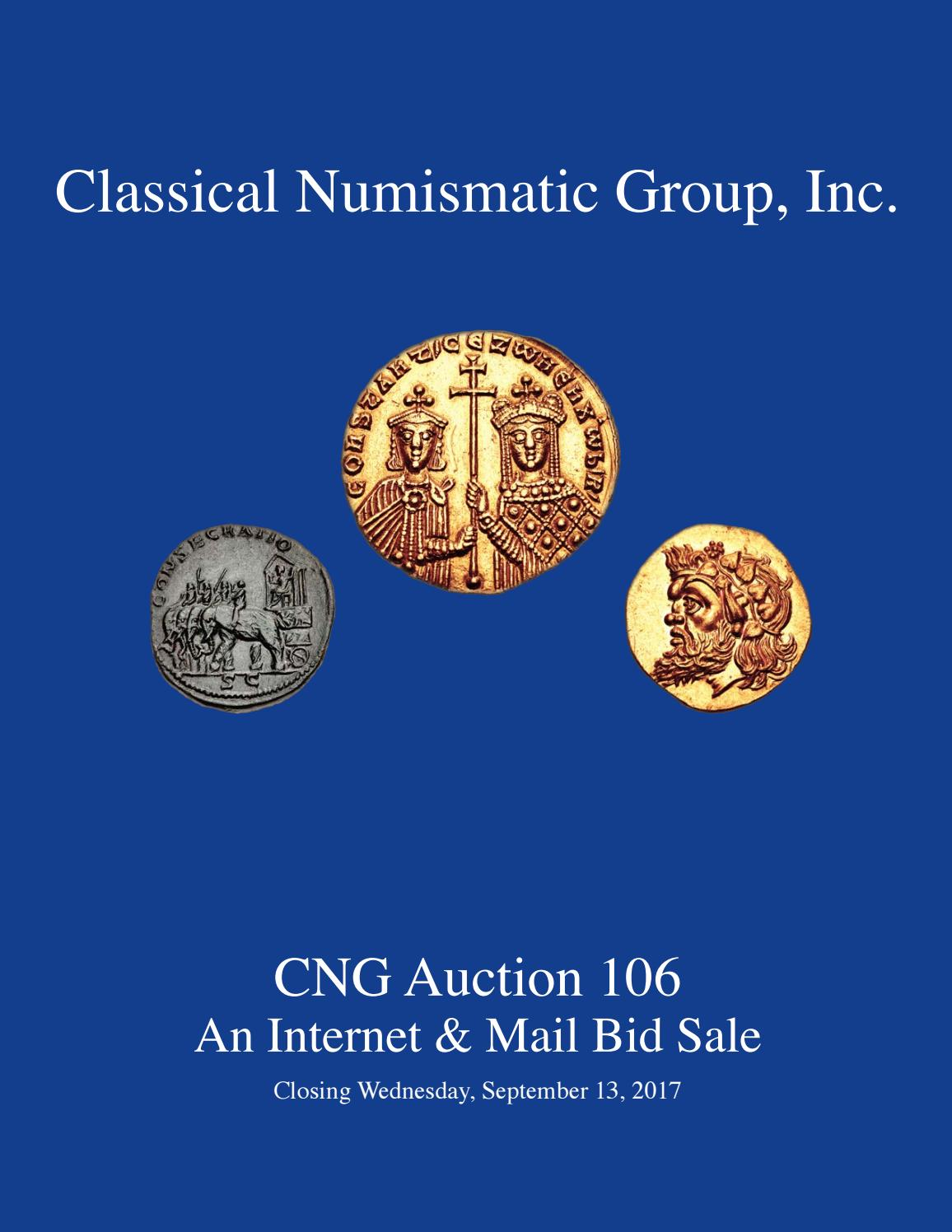 CNG 106 Virtual Catalog by Classical Numismatic Group d69889bb79