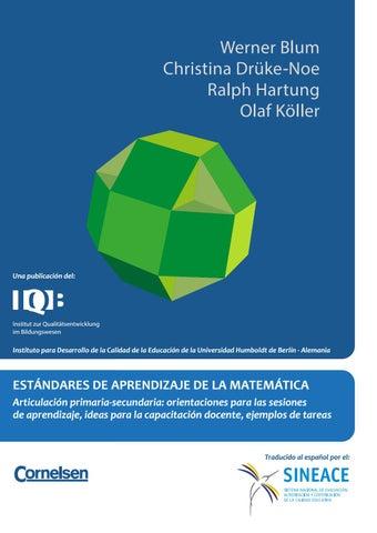 Estándares de aprendizaje de la matemática articulación primaria ...