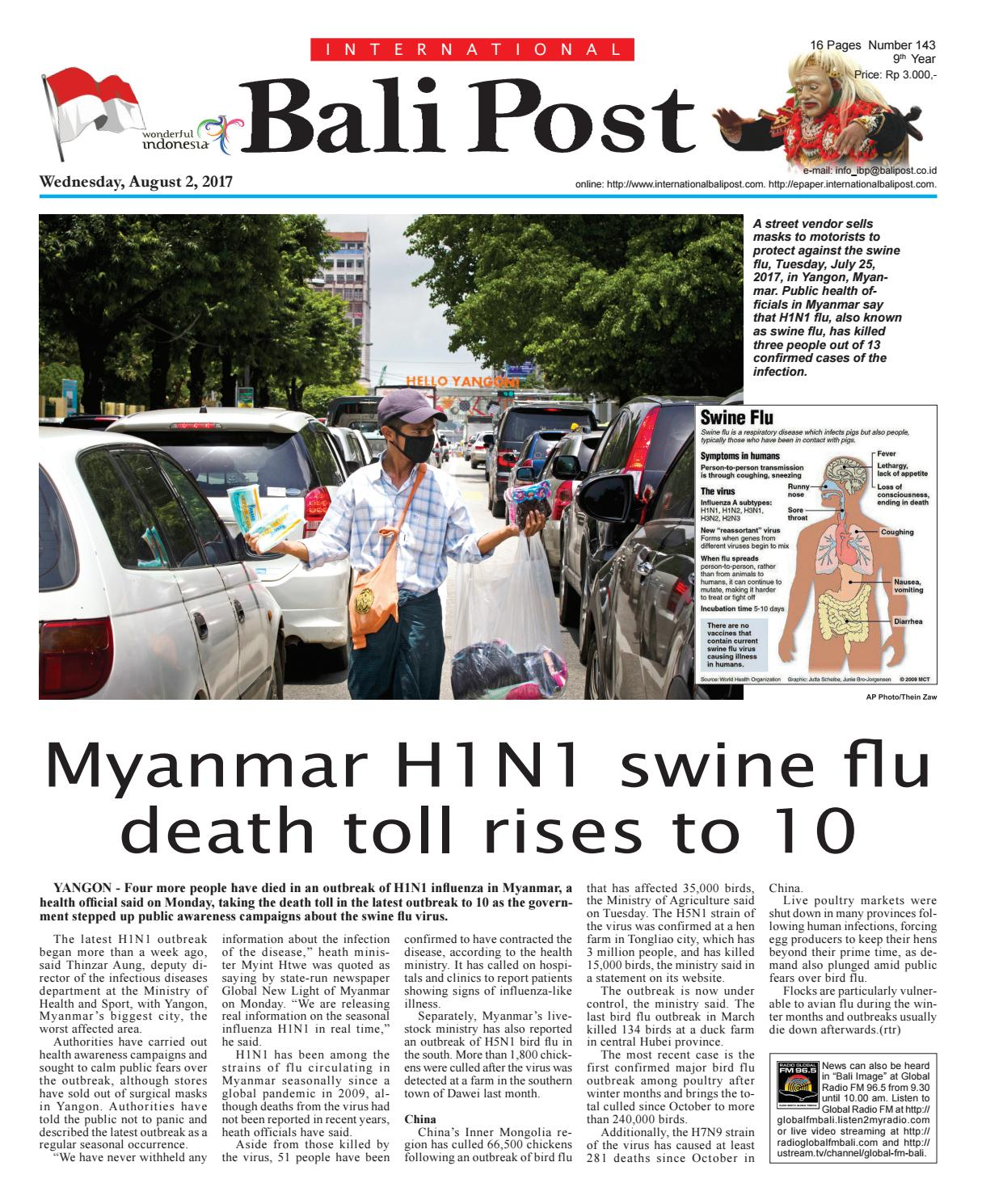Edisi 02 August 2017 | Internasional Bali Post by e-Paper
