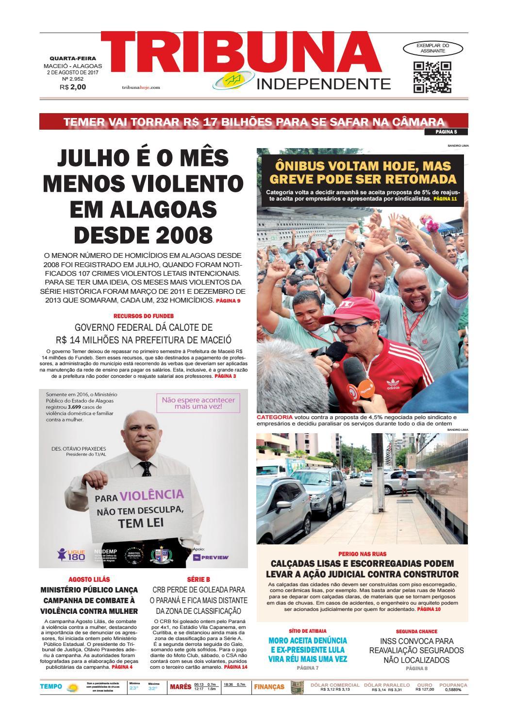 Edição número 2952 - 2 de agosto de 2017 by Tribuna Hoje - issuu c839c10589