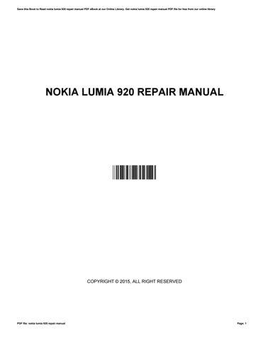 Nokia Lumia 920 User Guide Pdf