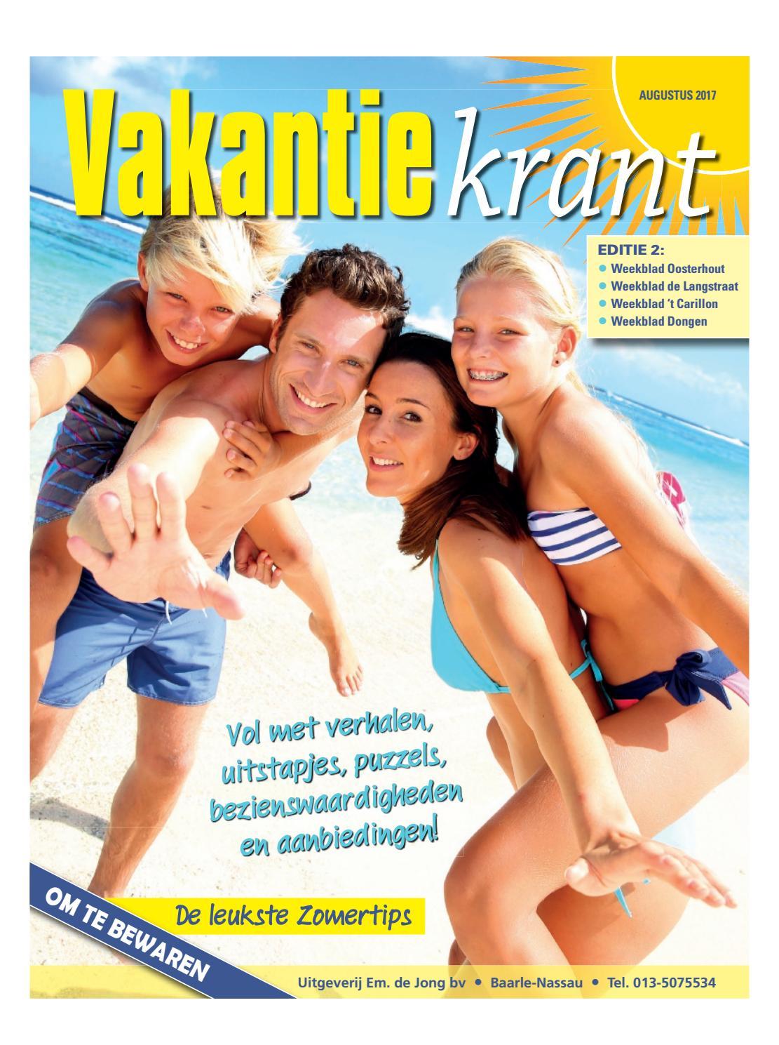Vakantiekrant ed 2 02 08 2017 by uitgeverij em de jong for Nassau indus deur bv oosterhout