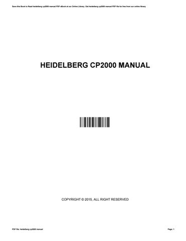 heidelberg cp2000 manual by drewmixon3772 issuu rh issuu com
