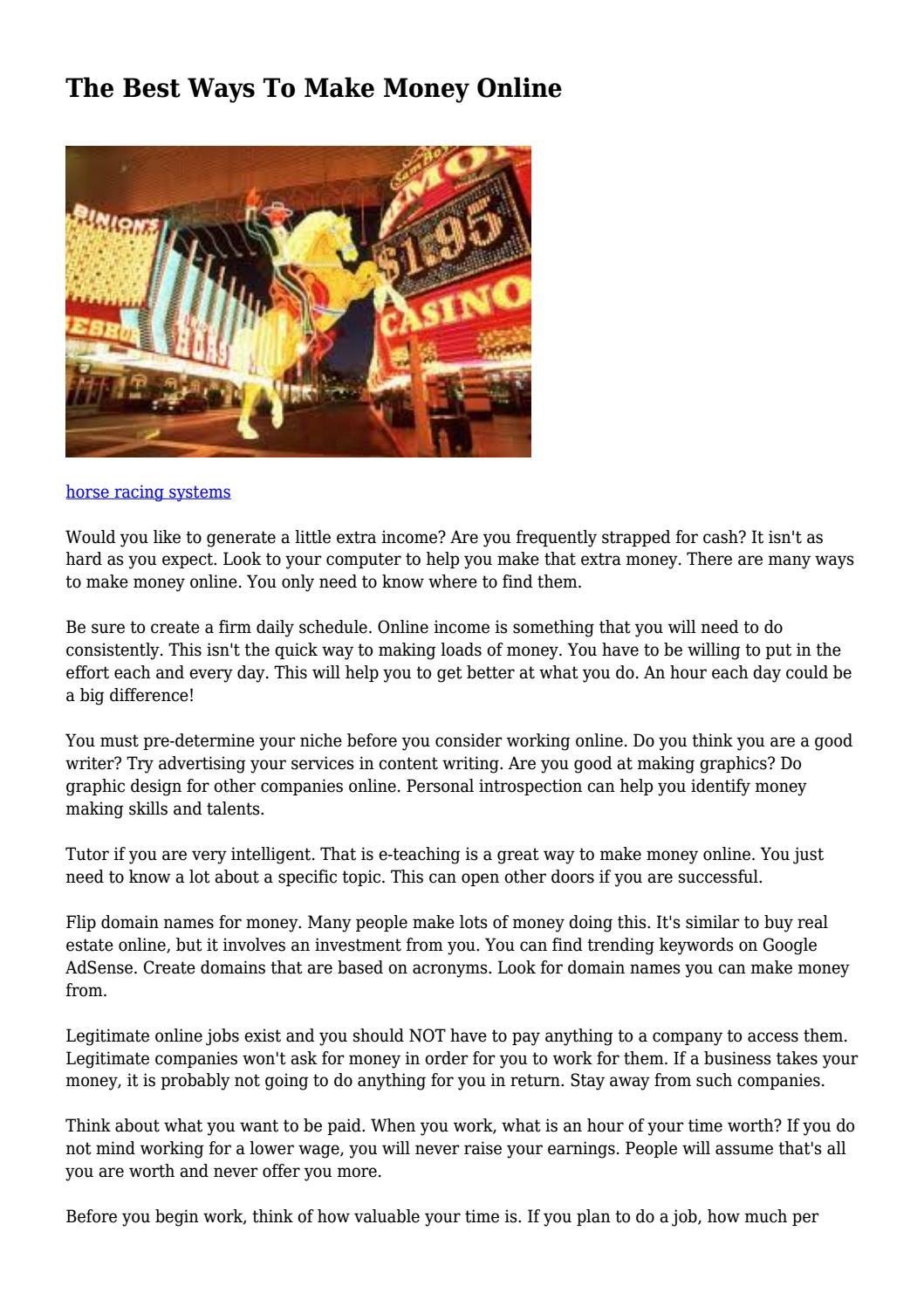 the best ways to make money online by marcelketchersid6875 issuu