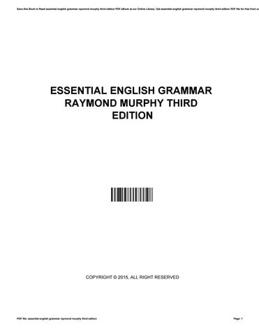 Book raymond grammar pdf english murphy