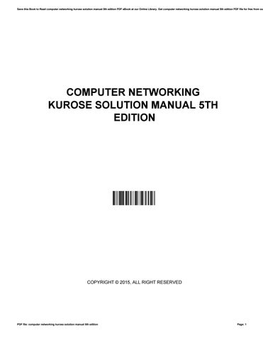 Computer Networks By Kurose Pdf