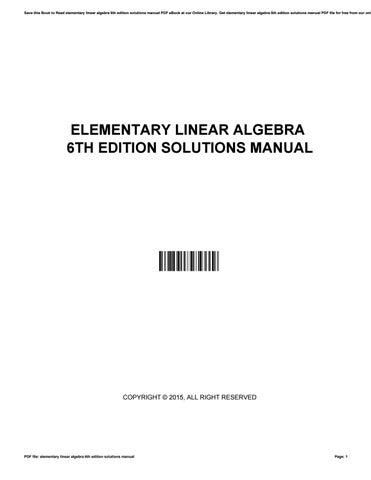 Linear pdf elementary algebra