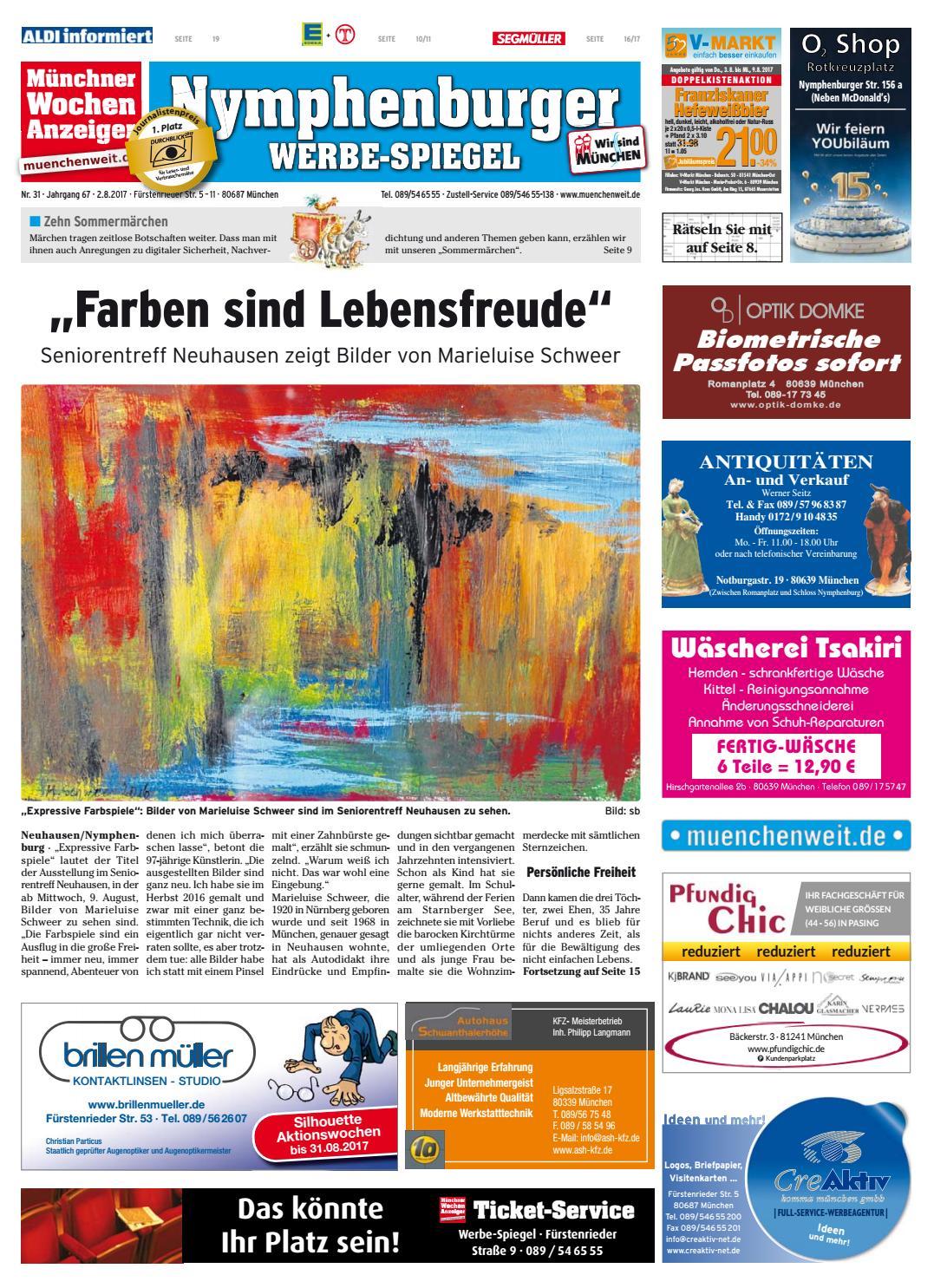 Kw 31 2017 By Wochenanzeiger Medien Gmbh Issuu