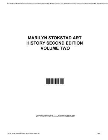 Art history volume 2 5th edition stokstad pdf files