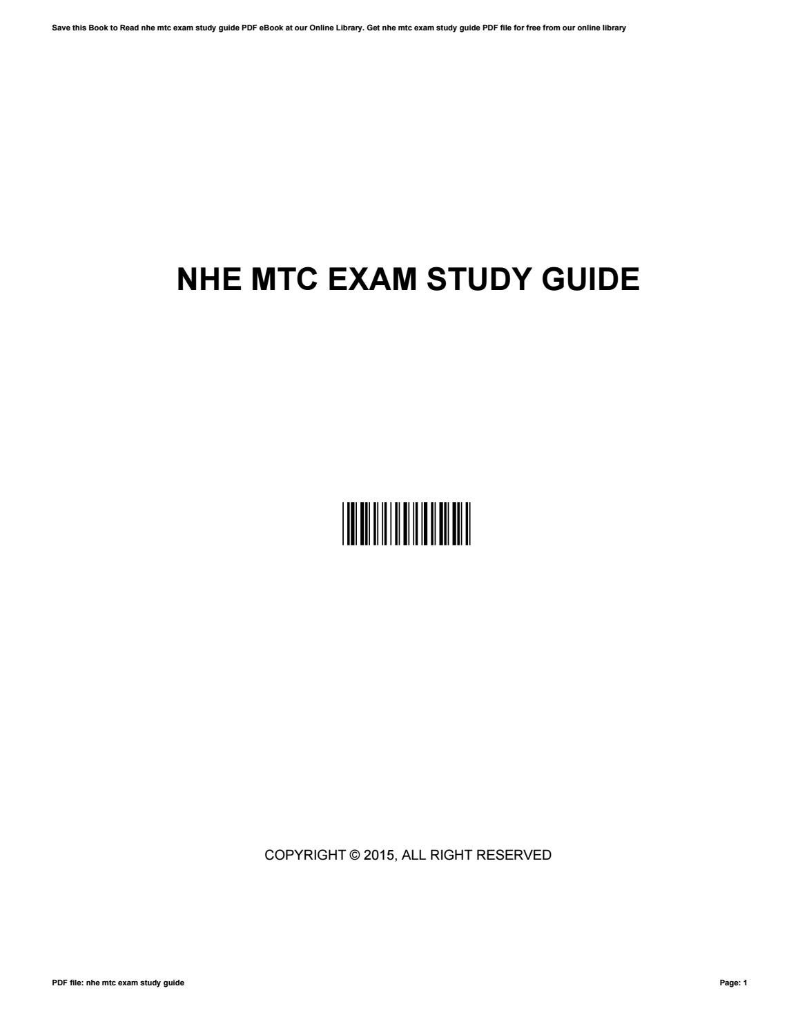 nhe mtc exam study guide by russpowell4857 issuu